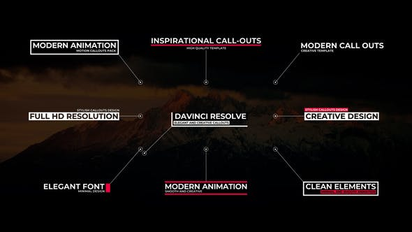 Modern Call Outs For DaVinci Resolve