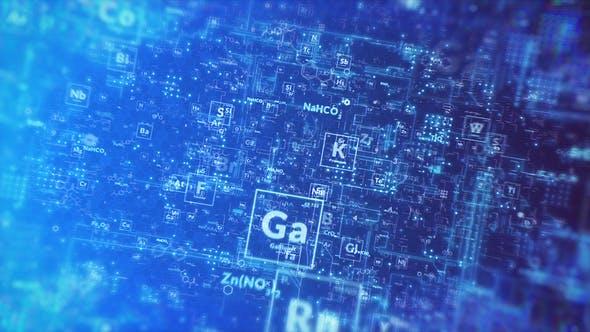 Thumbnail for Chemical Digital Title Reveal - MOGRT