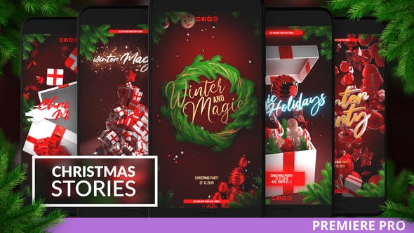 Thumbnail for Christmas Instagram Stories for Premiere