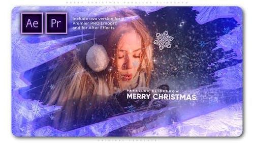 Merry Christmas Parallax Slideshow