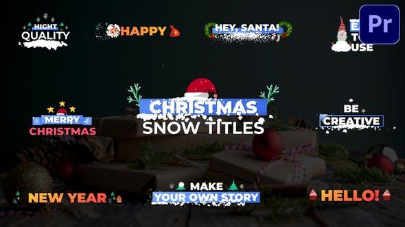 Thumbnail for Títulos de nieve navideña   Premiere Pro MOGRT