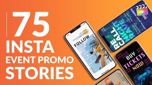 75 Insta Event Promo Stories | Für Final Cut & Apple Motion