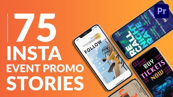 Thumbnail for 75 Historias promocionales de eventos Insta | Gráficos esenciales | Mogrt