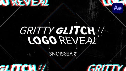 Gritty Glitch // Logo Reveal