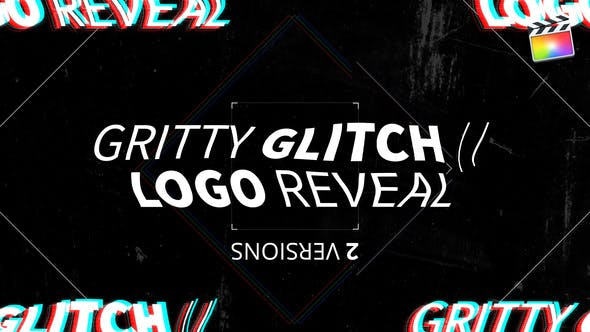 Thumbnail for Gritty Glitch//Logo Reveal | Für Final Cut & Apple Motion