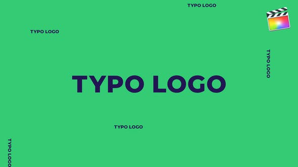 Thumbnail for Typo Logo  | For Final Cut & Apple Motion
