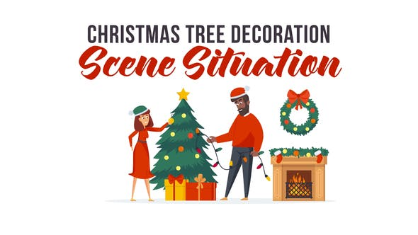 Christmas tree decoration - Scene Situation