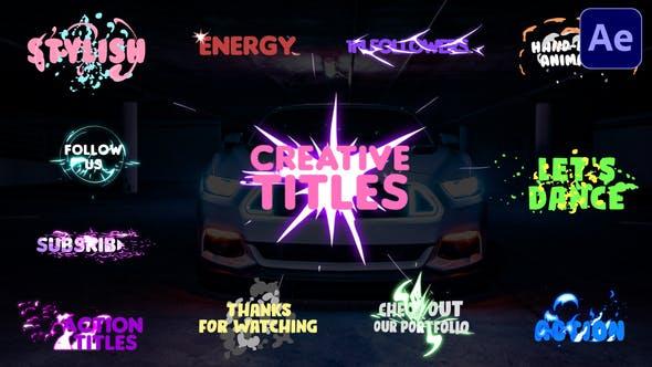 Thumbnail for Títulos creativos | Premiere Pro MOGRT