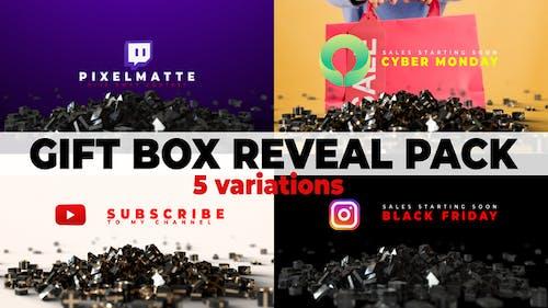 Gift Box Reveal Packs | Social Media | Black Friday & Cyber Monday