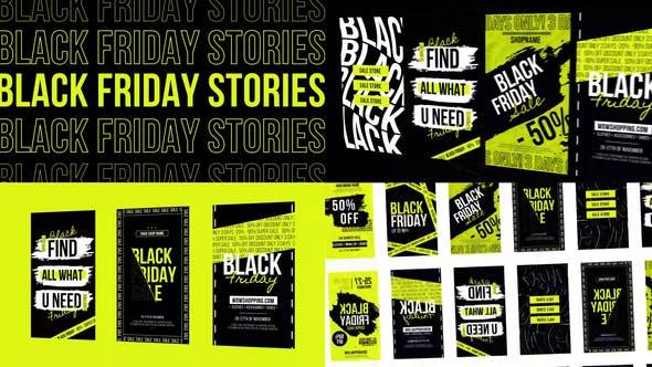 Thumbnail for Histoires Black Friday Instagram NEON