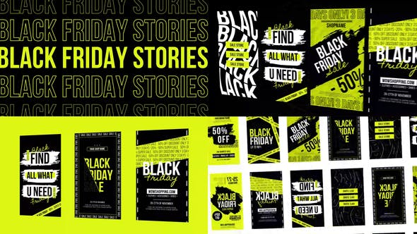 Stories Black Friday Instagram NEON