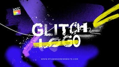 Glitch Logo Intro Grunge Distortion