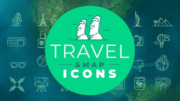 Thumbnail for Travel & Map Icons