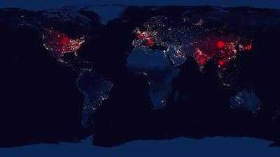 COVID-19 Coronavirus Global Pandemic Map