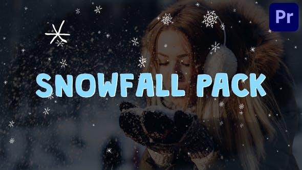 Cartoon Snowfall | Premiere Pro MOGRT