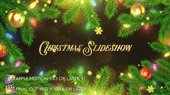 Thumbnail for Christmas Celebration Slideshow - Apple Motion