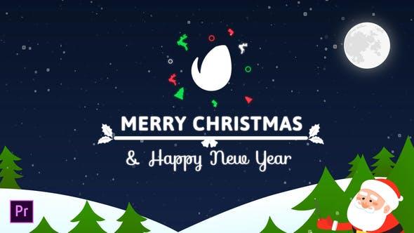 Bunte Weihnachtskarte | Für Premiere Pro