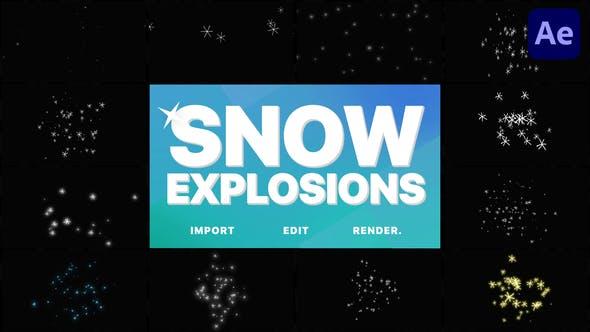 Thumbnail for Explosiones de nieve | Premiere Pro MOGRT