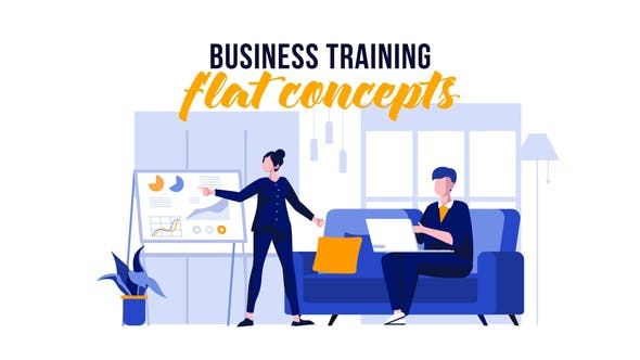 Thumbnail for Business training - Flat Concept