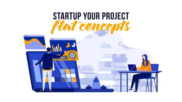 Thumbnail for Startup your project - Flat Concept