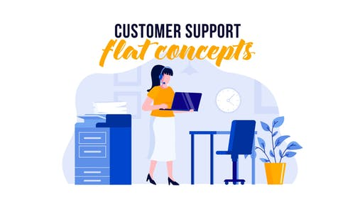 Customer support - Flat Concept