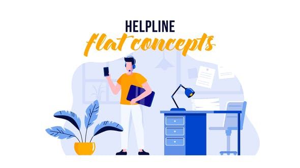 Thumbnail for Helpline - Flat Concept