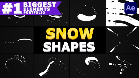 Thumbnail for Snow Shapes Pack | After Effects