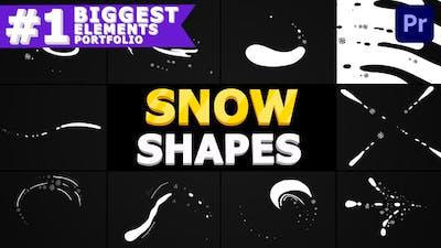Snow Shapes | Premiere Pro Mogrt