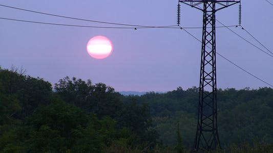 Cover Image for Power Lines On Sunrise 1