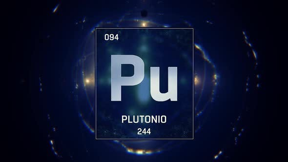 Thumbnail for Plutonium as Element 94 of the Periodic Table on Blue Background in Spanish Language