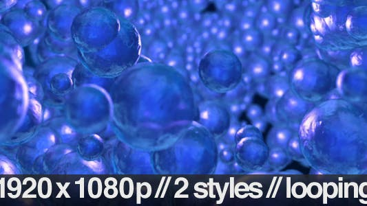 Thumbnail for 3D Water Bubbles Floating Up Background - 2 Styles
