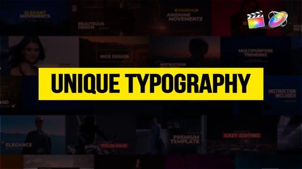 Thumbnail for Tipografía única para FCPX