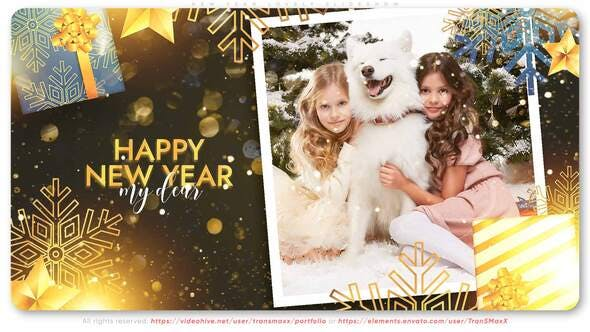 Thumbnail for Año Nuevo Lovely Diapositivas