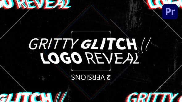 Thumbnail for Gritty Glitch//Logo Enthüllung | Mogrt