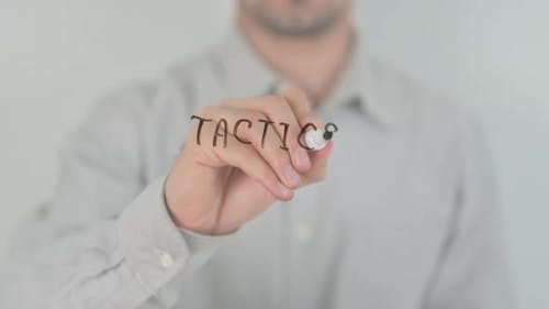 Tactics Writing on Screen with Hand