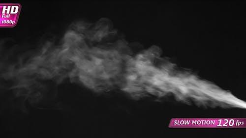 Strahl von Dampf mittlerer Intensität