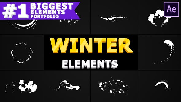 Thumbnail for Winter Elements Pack | After Effects