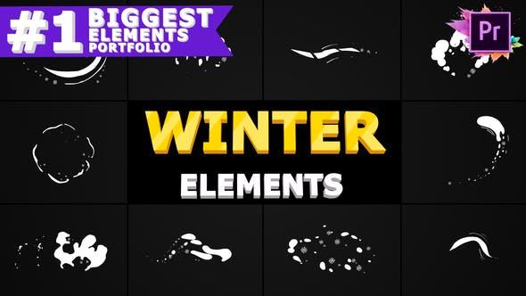 Winter Elements Pack | Premiere Pro MOGRT
