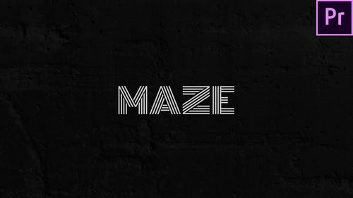 Maze - Animated Typeface for Premiere