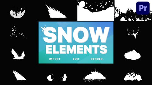 Snowy Elements | Premiere Pro MOGRT