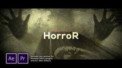The Horror Cinematic Trailer