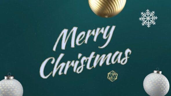 Elegant 3D Christmas Intro