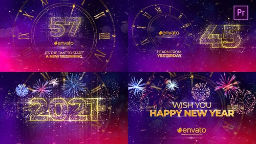 New Year Countdown 2021 Premiere Pro