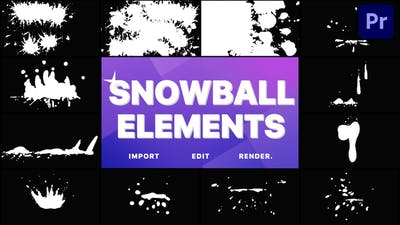Snowball Elements | Premiere Pro MOGRT