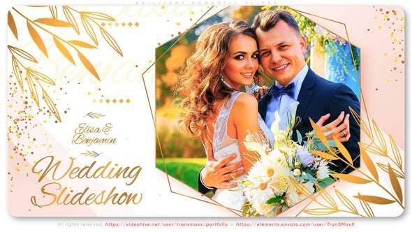 Thumbnail for Brillante boda. Diapositivas románticas
