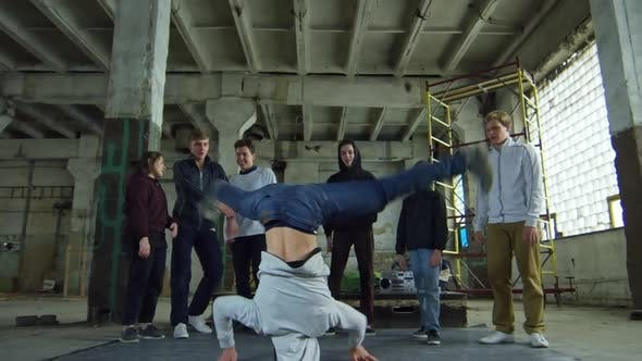 Thumbnail for Teenage Boy Spinning on Head