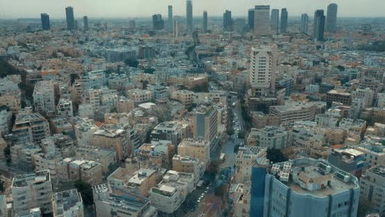 Thumbnail for Bird Eye View Cityscape of Tel Aviv, Israel