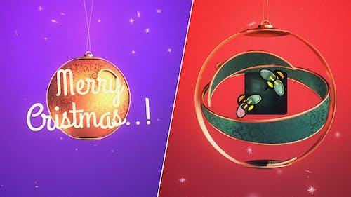 Merry Christmas Ball Logo