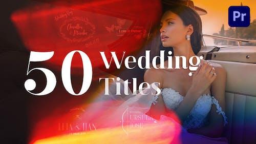 50 Wedding Titles | Essential Graphics | Mogrt