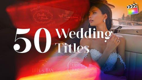 50 Wedding Titles   For Final Cut & Apple Motion